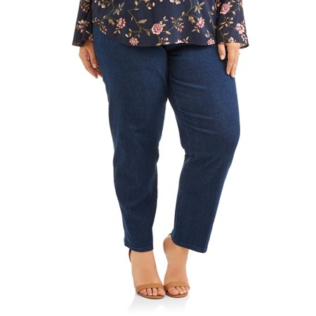 Petite Length - Women's Plus-Size 2-Pocket Pull-On Stretch Woven Pants, Available in Regular and Petite Lengths