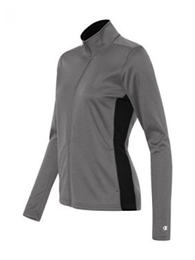 a289bc0ce18 Product Image Women S Performance Colorblock Full-Zip Jacket (Stone  Gray Black) (S). Champion