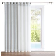 "HLC.ME One Panel Extra Wide Sheer Voile Patio Door Grommet Curtain Panel for Sliding Doors - 100"" inches wide"