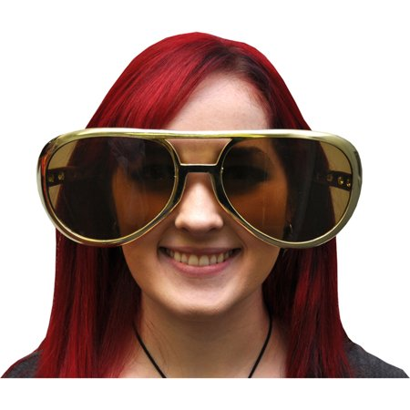 Morris Costumes New Rock And Roll Oversized Jumbo Plastic Gold Glasses, Style FM57481 (Rock And Roll Costume Ideas)