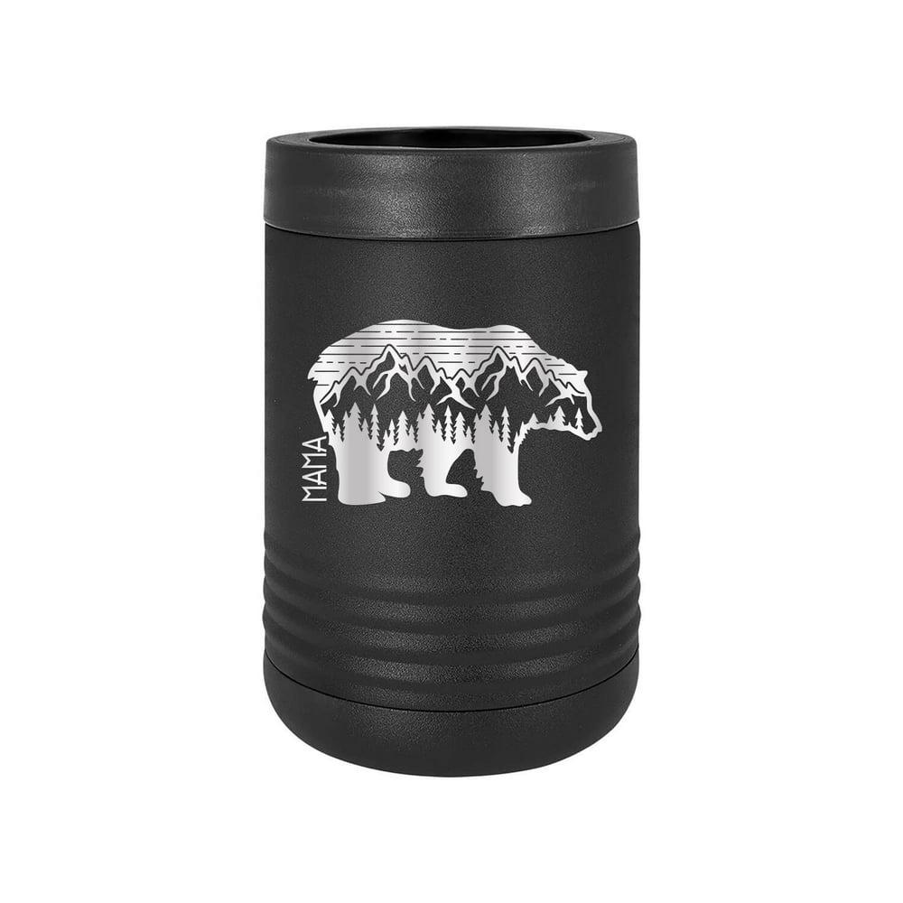 Mama Bear Adventure - Engraved Can Bottle Beverage Holder ...
