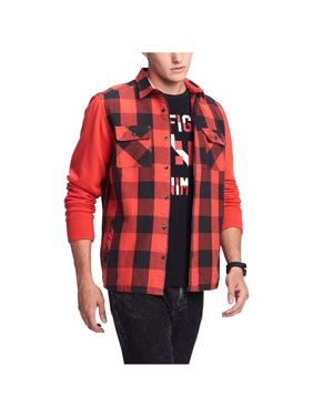 Tommy Hilfiger Mens Plaid Long Sleeves Jacket