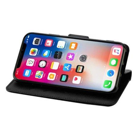 Insten Crocodile Stand Folio Flip Leather Wallet Flap Pouch Case Cover For Apple iPhone X XS 2017 - Black - image 2 de 8