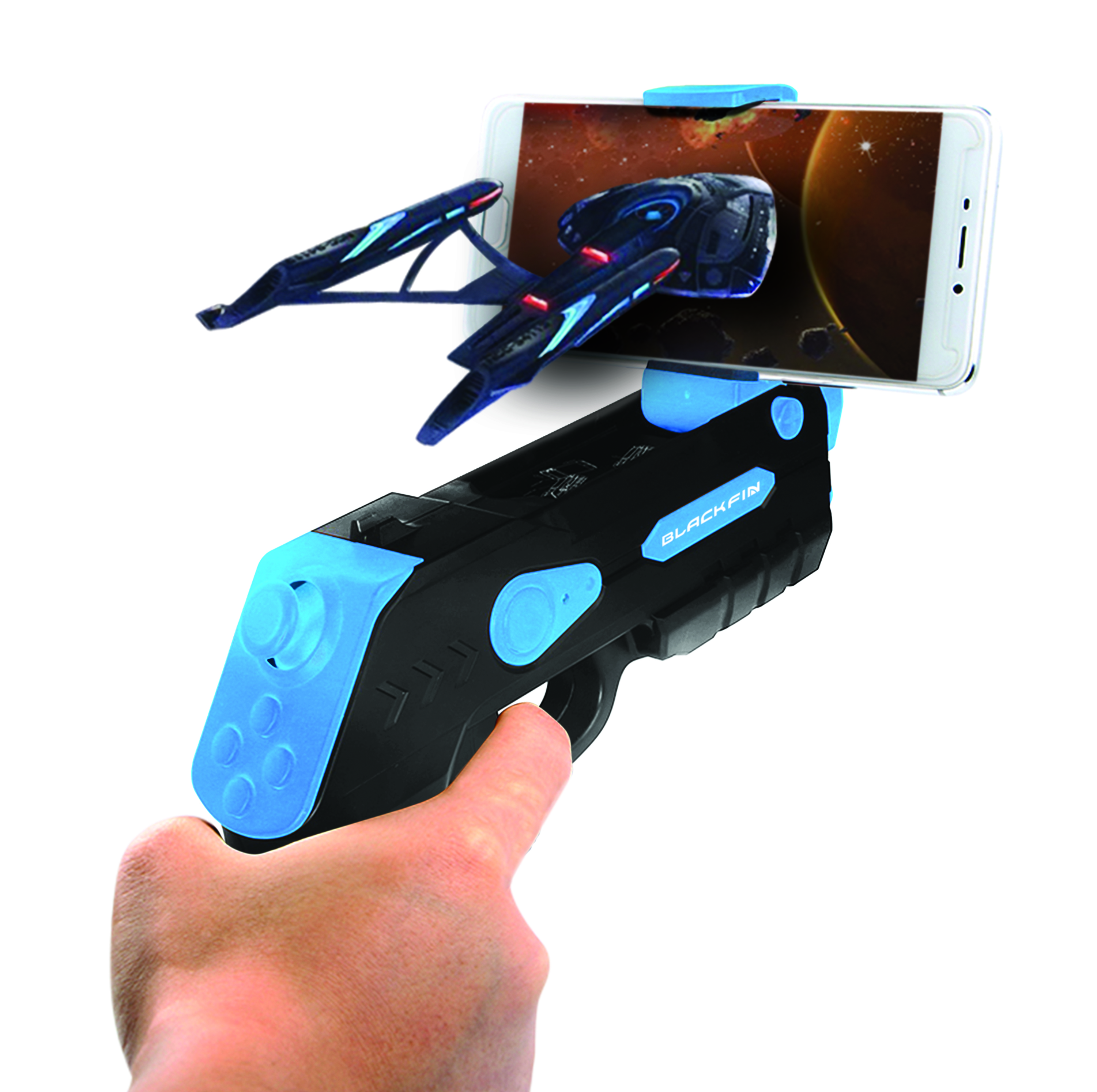Black Fin AR BLASTER V.3 - Worlds AR — Augmented Reality Blaster Pro Edition