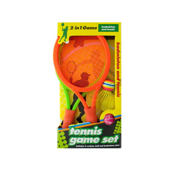 Bulk Buys OD871-3 2 In 1 Badminton and Tennis Game Set by Bulk Buys