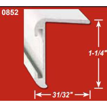 AP Products 021-85203-8 Trim Molding  Long Leg Insert Corner Molding Type; 1-1/4 Inch Height x 31/32 Inch Width x 8 Foot Length; Aluminum - image 1 of 1
