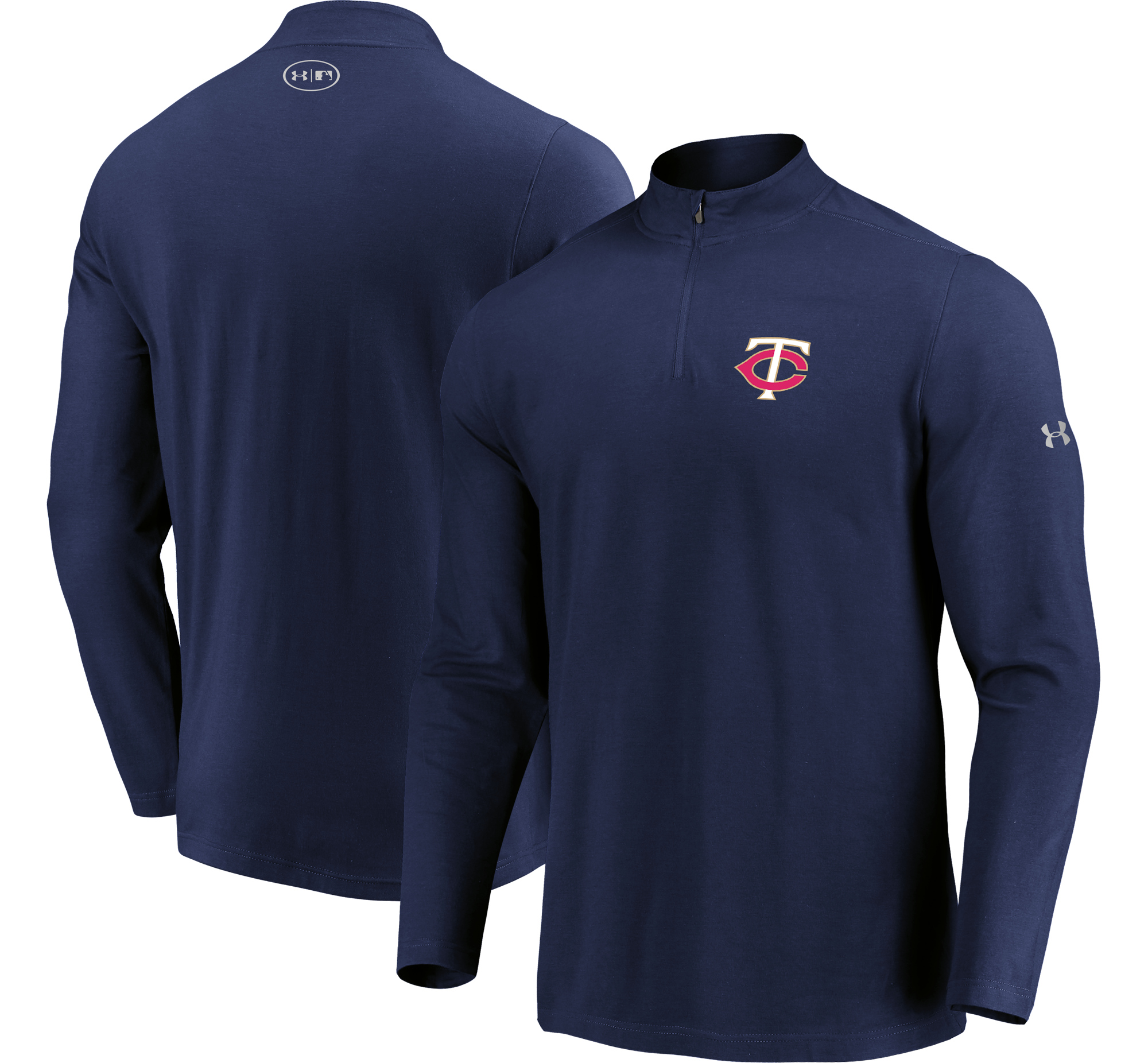 Minnesota Twins Under Armour Passion Performance Tri-Blend Quarter-Zip Pullover Jacket - Navy