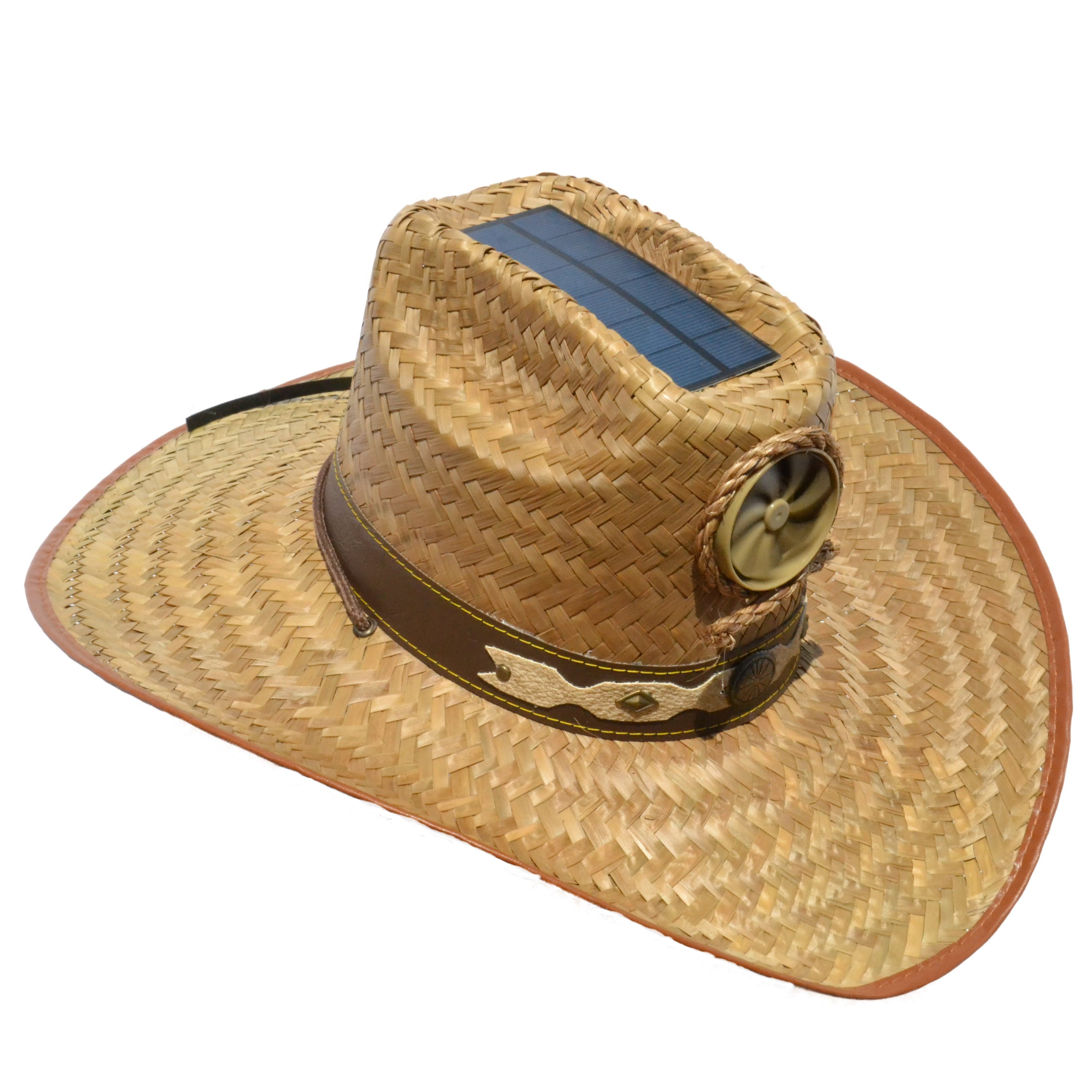 How to make a building solar powered fan hat