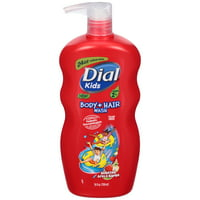 Dial Kids Body + Hair Wash, Bursting Apple Rapids, 24 Ounce