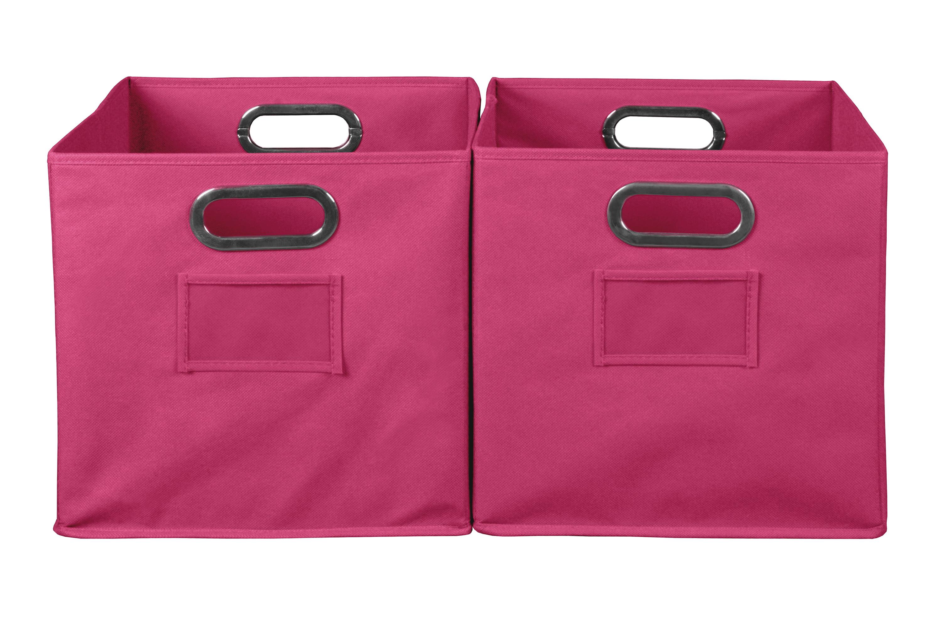 Niche Cubo Foldable Fabric Storage Bin, Set of 2- Teal by Regency