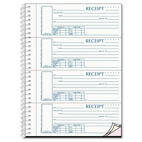"Rediform 3-part Wirebound Money Receipt Book Wire Bound 3 Part Carbonless 2.75"" X 7"" Form Size... by"