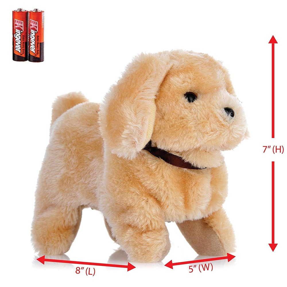 Toysery Chihuahua Puppy Plush Dog Toy Walking Barking Wagging Tail Lucky Kids Pet Toy