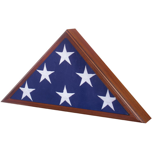Star Legacy Veteran Flag Case, Walnut