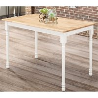 "BOWERY HILL 47"" x 30"" Small Kitchen Table in Natural Brown and White"