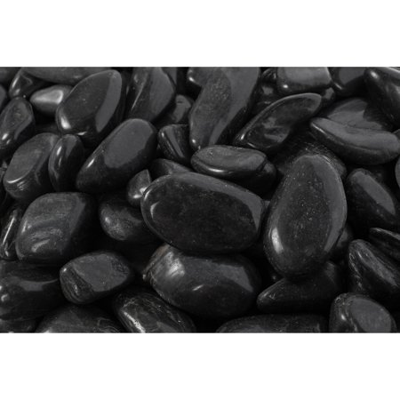 Margo Black Super Polished Decorative Rock Pebbles, 20 lb ()