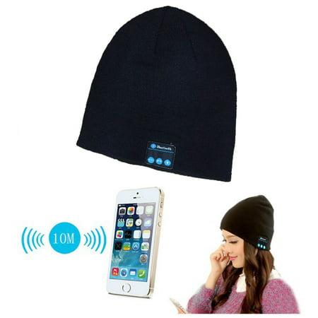 Smart Wireless Bluetooth Cap Headphone Headset Speaker Magic Hat Mic Soft  Warm Beanie Hats - Walmart.com 283f08f8109