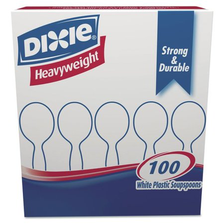 Dixie Plastic Cutlery, Heavyweight Soup Spoons (Set of 1000) - Plastic Soup Spoons