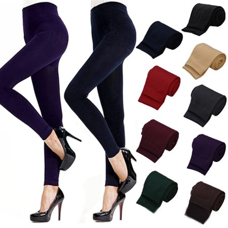 Capri Length Footless Tight - HiCoup Lady Women Winter Warm Skinny Slim Leggings Stretch Pants Thick Footless Tights