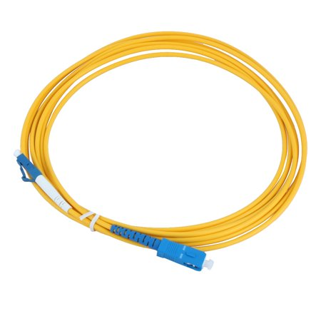 Unique Bargains 2.9M 9.5 Ft Singlemode LC to SC Fiber Optic Patch Cord Jumper Cable 2mm