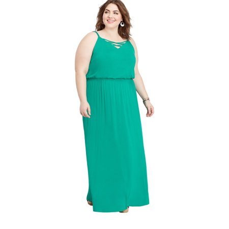 maurices - Maurices Lattice Neck maxi Dress - Women\'s Plus Size 24/7 ...