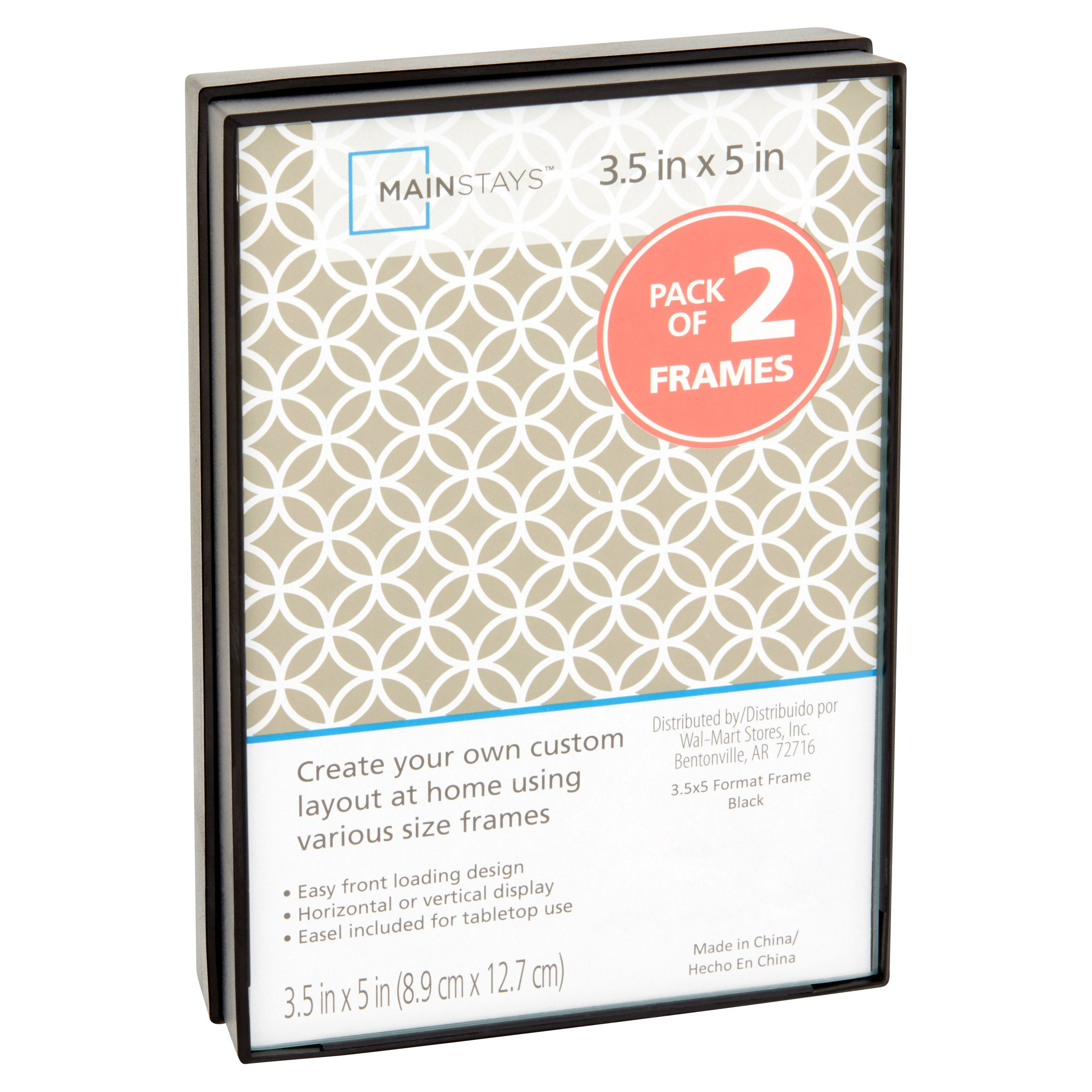 mainstays 35x5 format picture frame set of 6 walmartcom