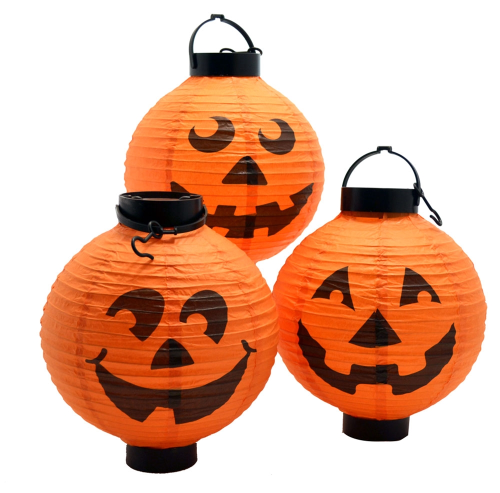 Lighted Pumpkin Lanterns 3ct