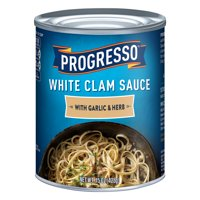 (4 pack) Progresso White Clam Sauce With Garlic & Herb, 15 oz Can