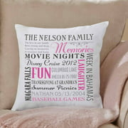 """Personalized """"Remember When"""" Family Pillow"""