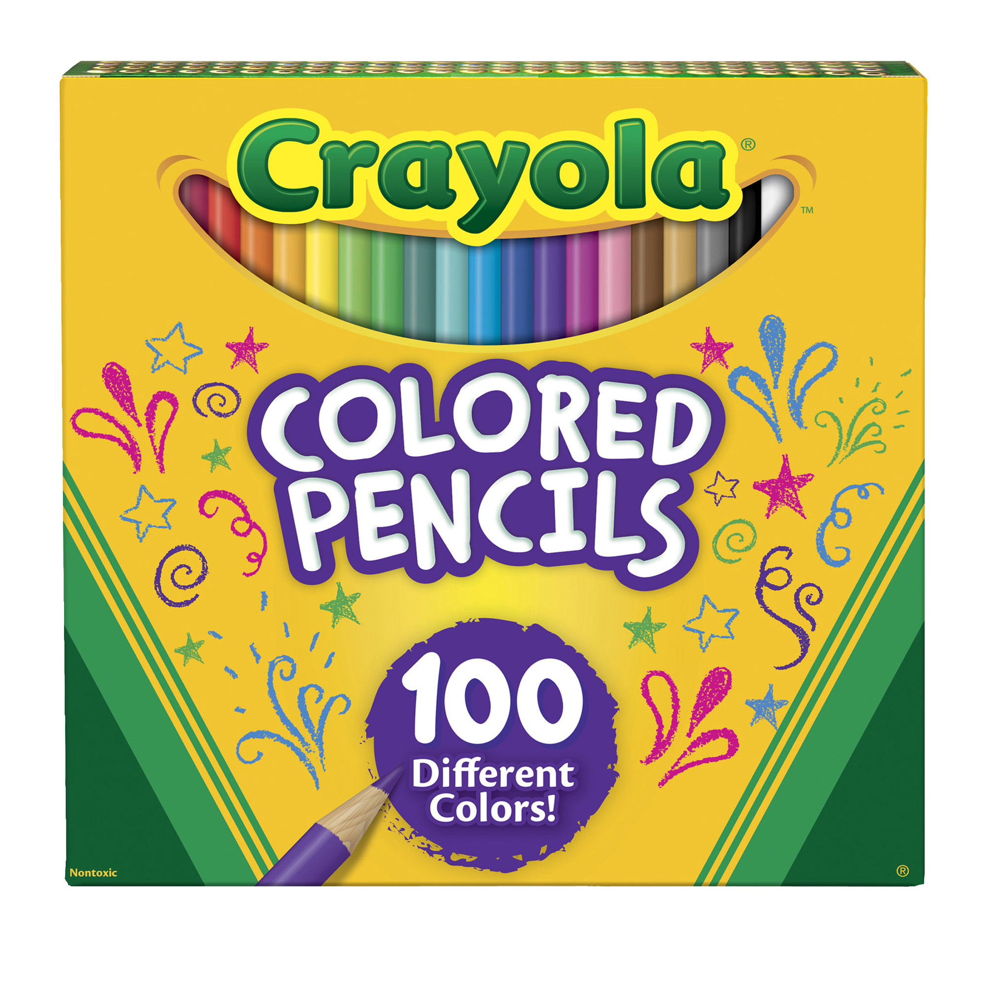Crayola Colored Pencils, Bulk Colored Pencils, Great for Coloring Books, 100 Count by Crayola LLC