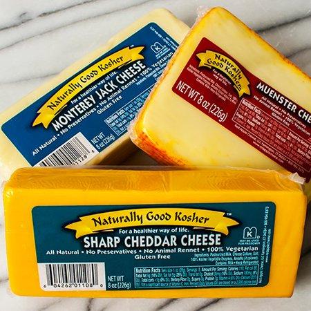 Naturally Good Kosher Cheese - Sharp Cheddar (Cheese Extra Sharp)