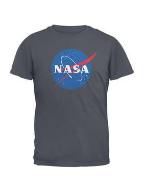 e0d54733 Product Image NASA Logo Charcoal Grey Adult T-Shirt. Old Glory