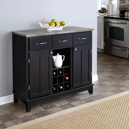 Home Styles Buffet of Buffets with Stainless Top by HomeStyles