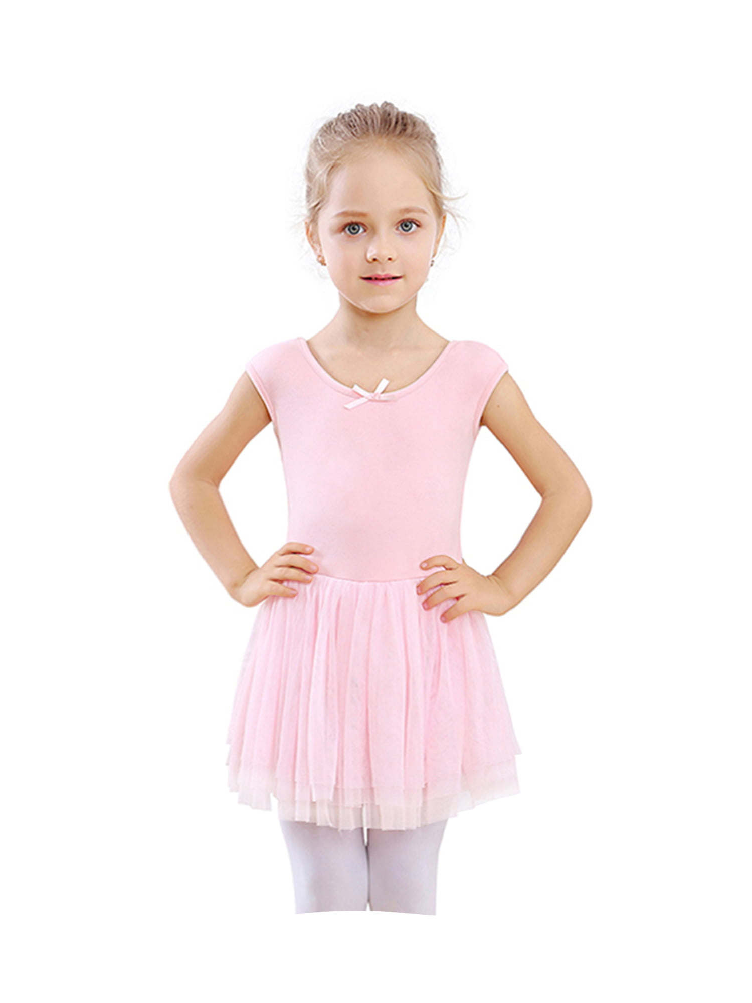 Capezio Future Star Layered Long Sleeve Top Girls Pink Faux Lacing Ballet shirt