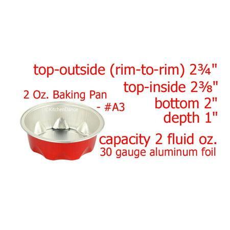 KitchenDance 2 oz. Disposable Aluminum Fluted Colored Foil Cups - #A3 (Colored Aluminum Foil Set)