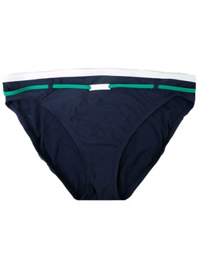 Nautica Women's Navy with Color Logo Detail Classic Bikini Swim Bottom