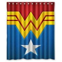 Ganma Wonder Woman Shower Curtain Polyester Fabric Bathroom Shower Curtain 60x72 inches