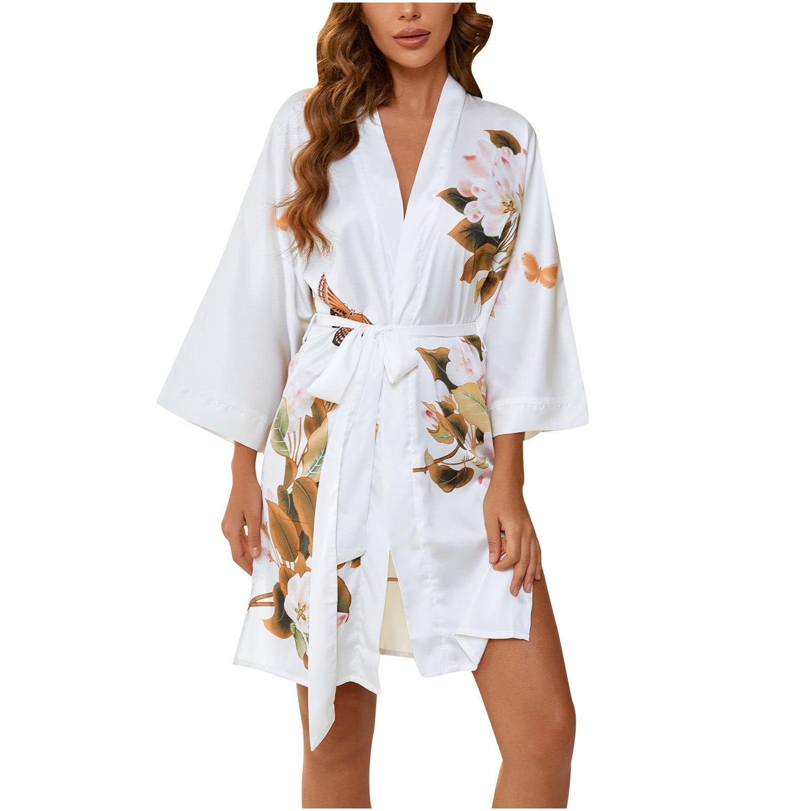 Details about  /Womens Boho Floral Printed Long Cardigan Sleep Robe Night Dress Shirts Sleepwear