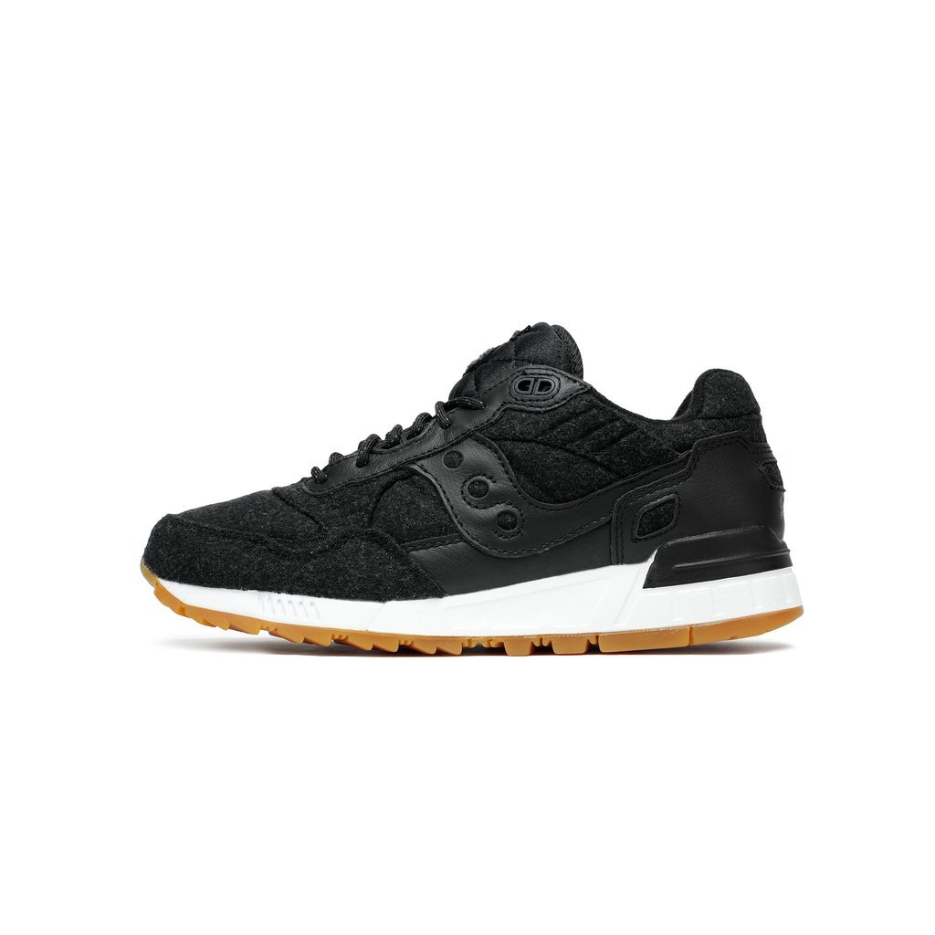 Mens Saucony Shadow 5000 Letterman II Black White Gum Brown S70334-1 by