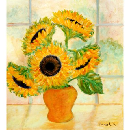 Buy Art For Less Sunflowers In A Yellow Vase In The Kitchen By