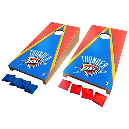 Oklahoma City Thunder Desktop Triangle Cornhole Game Set - No