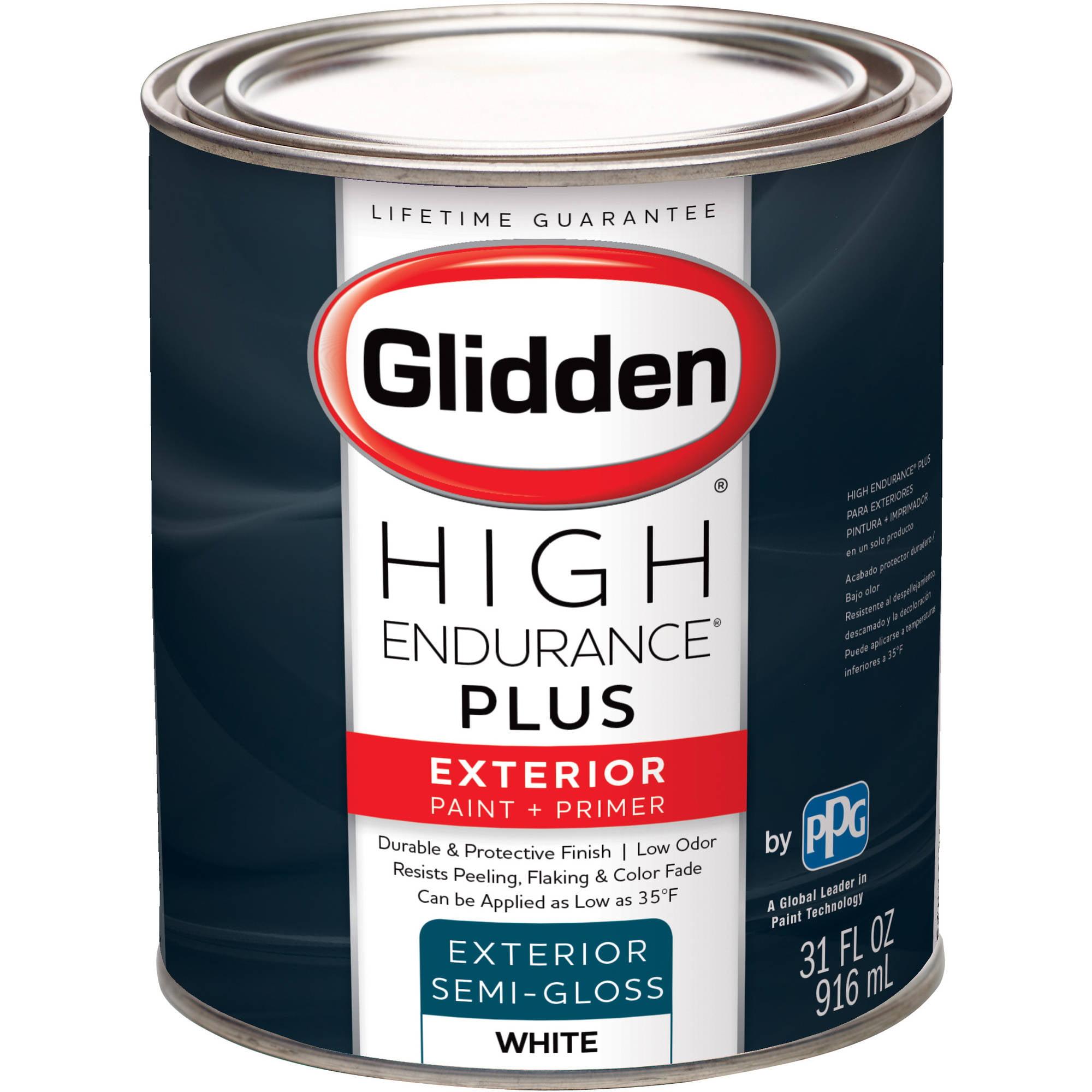 Glidden High Endurance Plus, Exterior Paint and Primer, Semi-Gloss ...