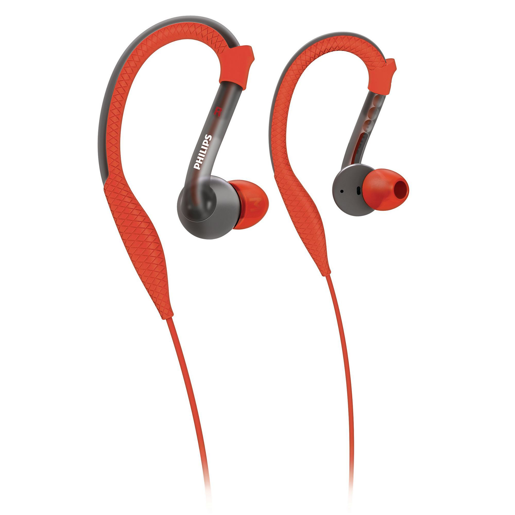 Philips ActionFit Sports Hook Headphones, Red