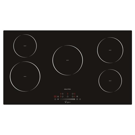 "- Empava 36"" EMPV-IDC36 Induction Cooktop With 5 Burners in Black"