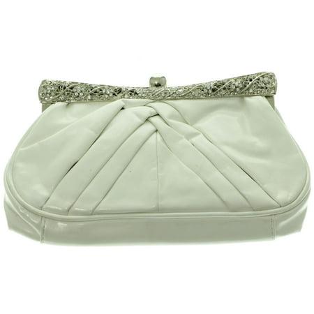 8e44fe954c Mi Amore Clutch-Purse White/Silver-Tone - Walmart.com