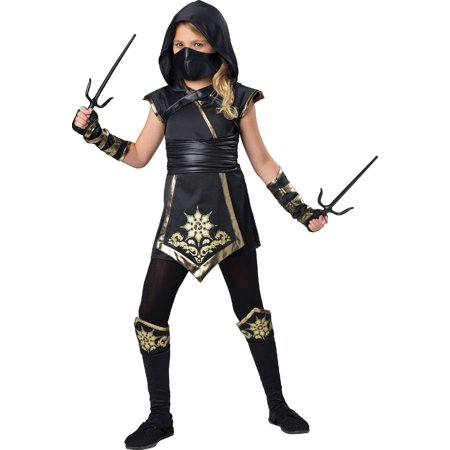 Gold Ninja Child Halloween Costume](Halloween Store Displays)