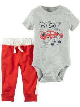 5b5681847 Product Image Carter's Baby Boys' 2-Piece Pitcrew Bodysuit and Pants Set