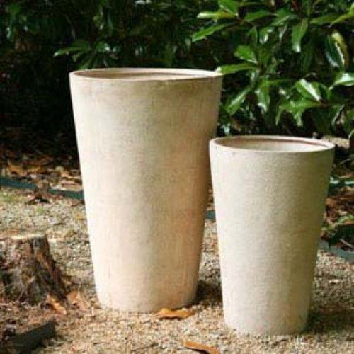 Round Fiberclay Venetian Planter - Set of 2
