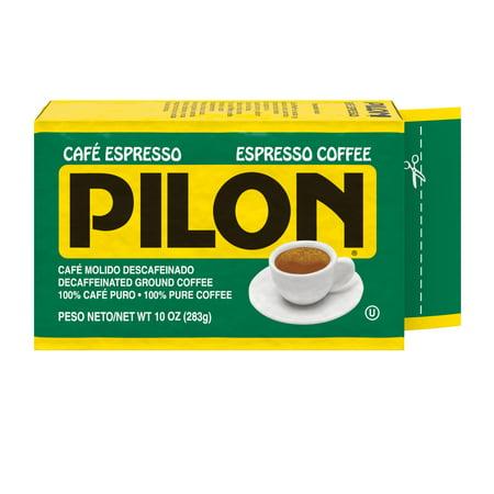 Ground Decaffeinated Coffee - Café Pilon Decaffeinated Espresso Ground Coffee, 10-Ounce