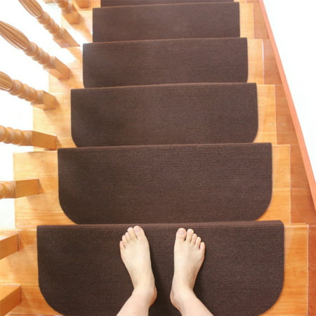 Meigar Non-slip Carpet Stair Treads Mats Staircase Step Rug Protection Cover Set 21.6''x9.5''