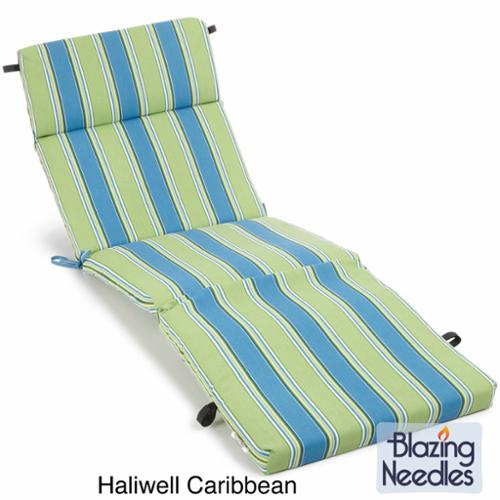 All-Weather UV-Resistant Polyester Outdoor Chaise Lounge Cushion Skyworks Multi (REO-26)